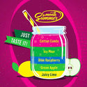 Juicy-Lime-–-Green-Apple-Blue-Raspberry-–-Icy-Pear-–-Cotton-Candy